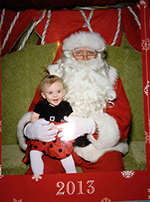 Myah with Santa page using a drag and drop JavaScript to create a jigsaw effect
