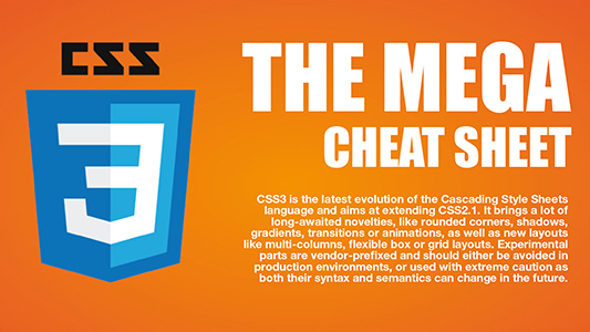 CSS3 MEGA Cheat Sheet by Jamie Spencer