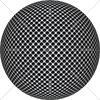 Digital Art Titled Perforated Brushed Steel Sphere