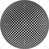 Digital Art Titled Perforated Chrome Steel Sphere