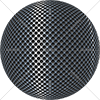 Digital Art Titled Perforated Inox Steel Sphere