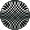 Digital Art Titled Perforated Stainless Steel Sphere
