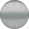 Digital Art Titled Perforated Honeycomb Steel Sphere