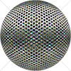 Digital Art Titled Perforated Steel Layered 10 Sphere