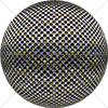 Digital Art Titled Perforated Steel Layered 4 Sphere