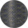 Digital Art Titled Perforated Steel Layered 8 Sphere