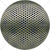 Digital Art Titled Perforated Steel Layered 9 Sphere