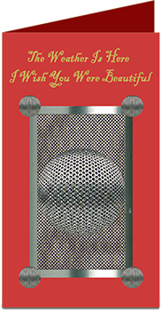 Greetings Card With Mesh Design